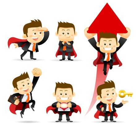 Illustration pour Super Businessman - image libre de droit