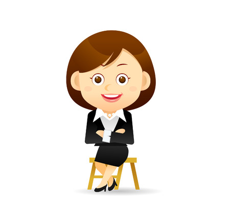 Vector illustration - Beauty businesswoman character