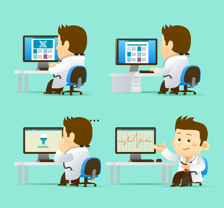 Illustration for illustration Doctor Character - Royalty Free Image