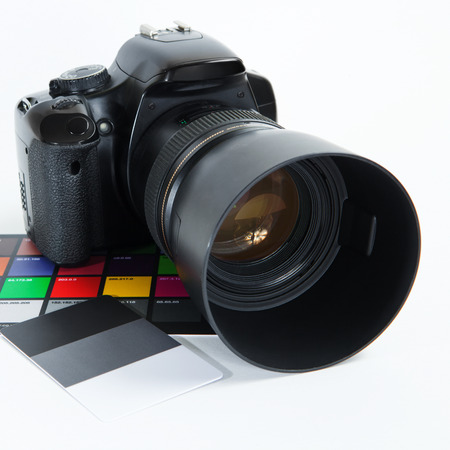 Photo camera with color picker