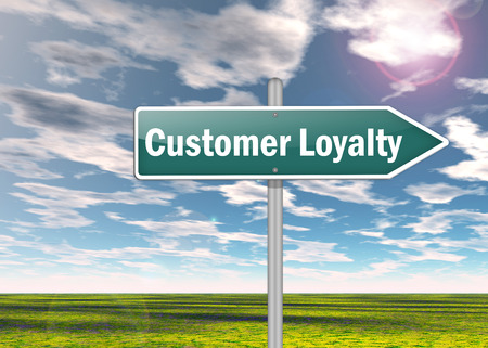 Signpost with Customer Loyalty wording