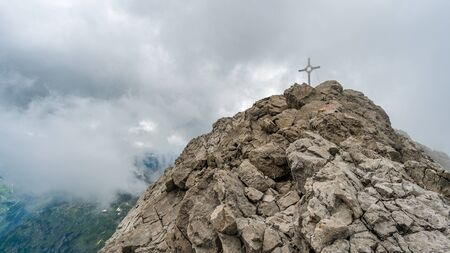 Fantastic mountain hike to the summit of Gro? Er Krottenkopf in the Allgau Alps
