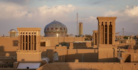 Photo for The skyline of Yazd Iran at sunset. - Royalty Free Image