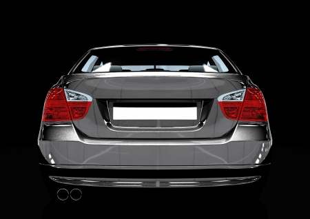 Back view of a luxury sedan car