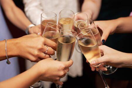 Photo pour Party at the hotel with champagne - image libre de droit
