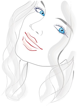 Portrait of a blue-eyed girl