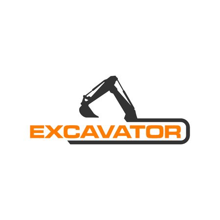 Illustration pour Excavator Vector Logo Template. construction - image libre de droit