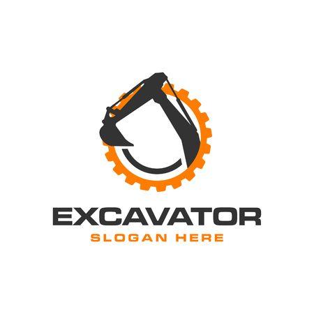 Illustration pour Excavator Vector Logo Template. construction - image libre de droit