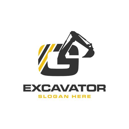 Photo for Excavator Vector Logo Template. construction - Royalty Free Image