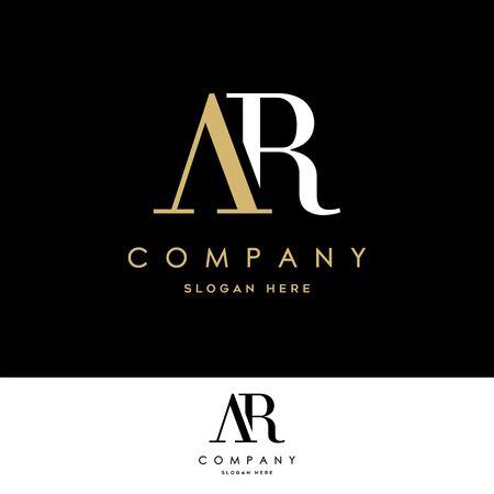 AR Logo. Letter Design Vector