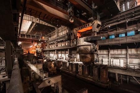 Photo pour Interior of a steel mill - image libre de droit