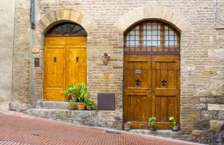 lovely tuscan doors San Gimignano Italy