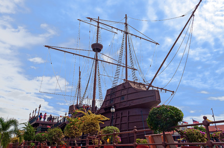 MALACCA, MALAYSIA - DEC 19, 2013: Samudera Maritime Museum. Malacca City is the capital city of the Malaysian state of Malacca. It was listed as a UNESCO World Heritage Site on 7 July 2008