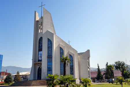 Batumi, Georgia - October 05, 2016: Catholic Church of the Holy Ghost was built in 2000