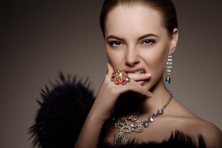 Photo pour High-fashion Model  - image libre de droit