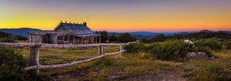 Foto per Sunset above Craigs Hut  in the Victorian Alps, Australia - Immagine Royalty Free