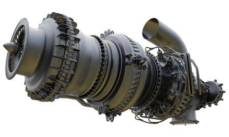 Photo pour Gas turbine engine of feed gas compressor. 3d rendering. - image libre de droit