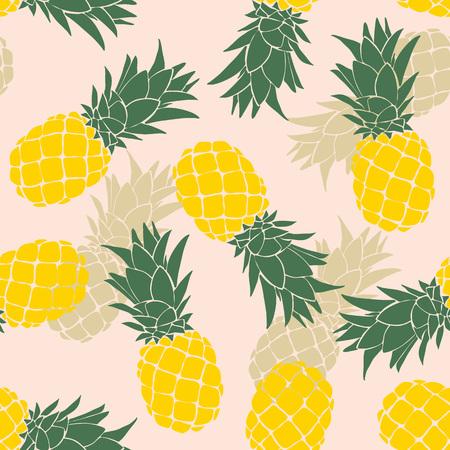 Ilustración de Pineapple seamless pattern. Vector illustration. - Imagen libre de derechos