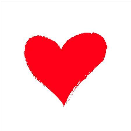 Photo pour red vector heart icon, Valentine day, illustration vintage design element - image libre de droit