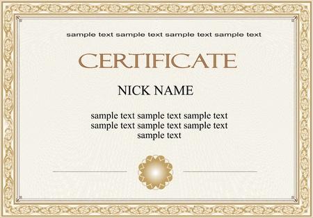 certificate, diploma for print