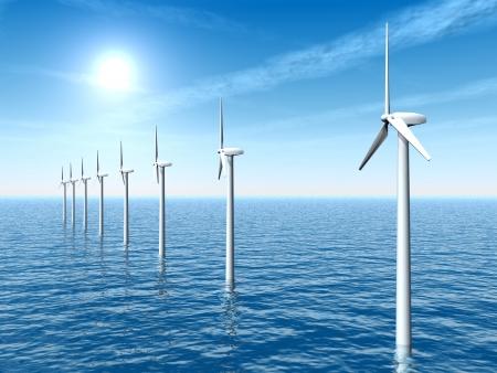 Photo pour Offshore Wind Farm - image libre de droit