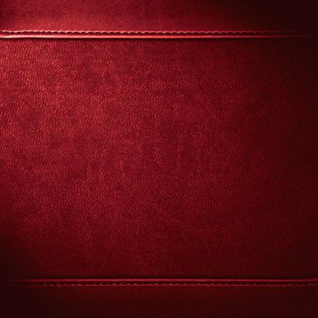 Foto de red leather background or grain pattern texture - Imagen libre de derechos