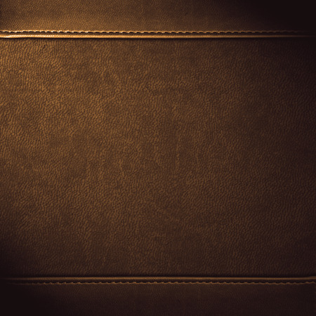 Foto de brown leather background or grain pattern texture - Imagen libre de derechos