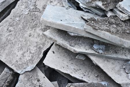 Broken Cement road.