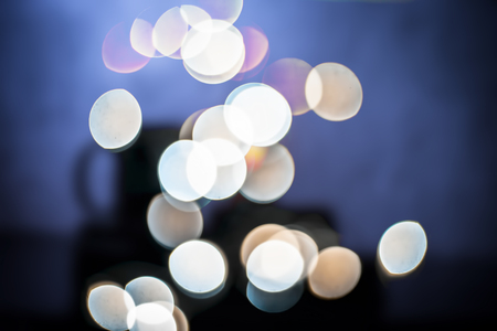 Photo pour Colorful Christmas lights and blurred background or bookeh of them.; - image libre de droit