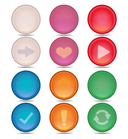 Illustration pour Colorful Icon Button Set - image libre de droit