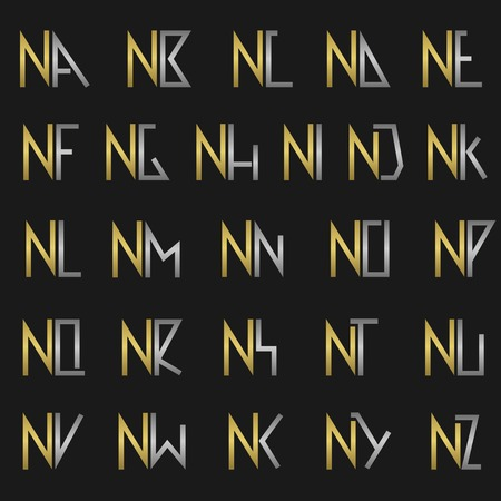 N and other alphabet letters monogram