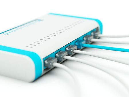 Splitter with cords. Blue and grey series