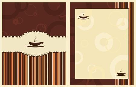 design for coffee shop menu