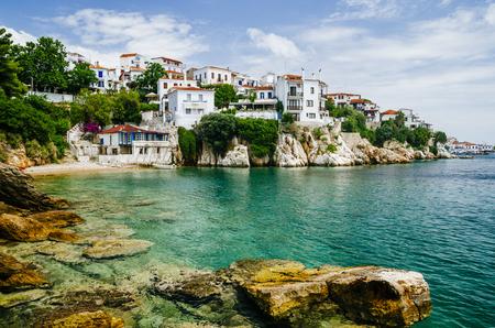 Photo pour Old town view of Skiathos island, Sporades, Greece. - image libre de droit