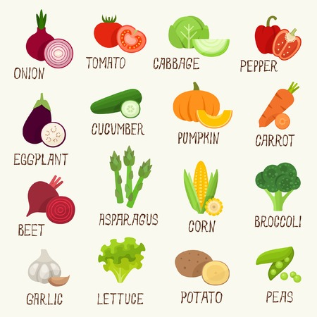Photo for Vegetables icon set - Royalty Free Image