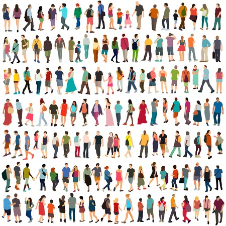Illustration for Vector people large set - Royalty Free Image