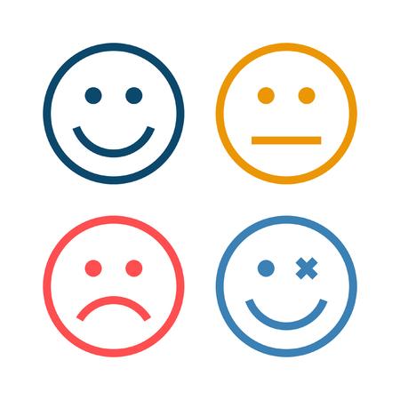 Illustration pour 4 Smiley Icon - image libre de droit