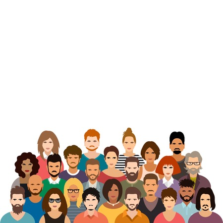 Photo pour People crowd vector illustration - image libre de droit