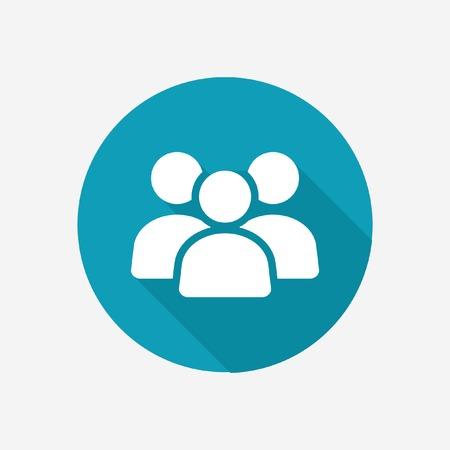 Ilustración de Business team vector icon - Imagen libre de derechos