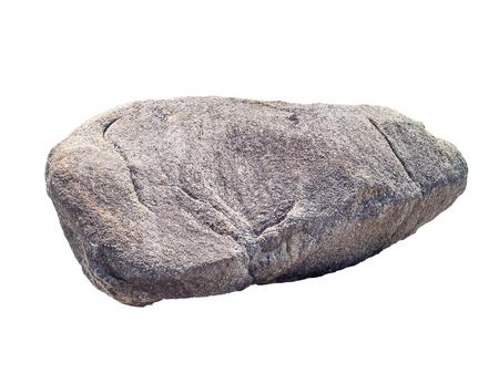 Photo pour big granite rock stone, isolated on white background - image libre de droit