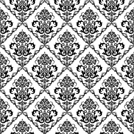 Floral Damask Pattern Wall Mural