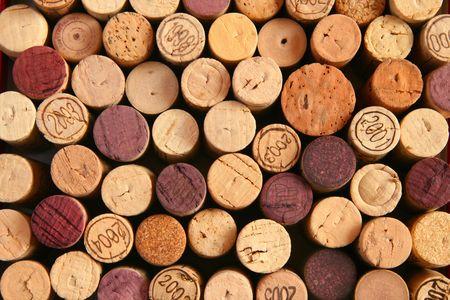 Background of corks ends