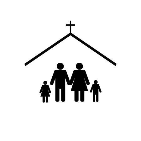 Illustration pour church icon - image libre de droit