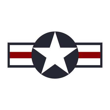 Ilustración de U.S. Army air force sign logo. Vector illustration - Imagen libre de derechos