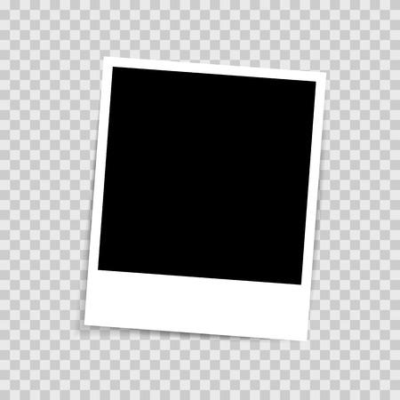 Illustration pour Retro Photo frame isolated on transparent background - image libre de droit