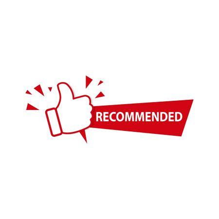 Illustration pour Recommended icon symbol on white background. Vector - image libre de droit