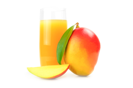 Mango red isolated on a white cutout