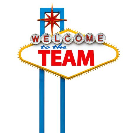 Photo for Welcome to the team on Las Vegas sign - Royalty Free Image
