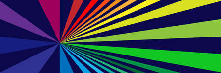 Vector background with off center, off center multicolored rays