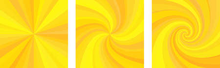 Square background with yellow and orange spirals